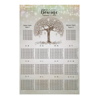 Love Birds Sitting in a Tree Seating Chart