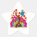 Love Birds Star Stickers