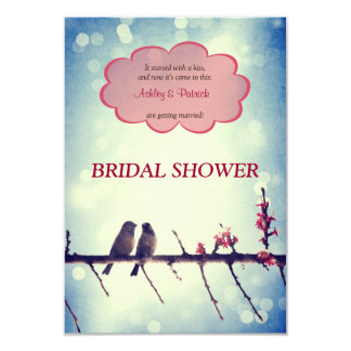 Love birds story 2 Bridal Shower Invitation