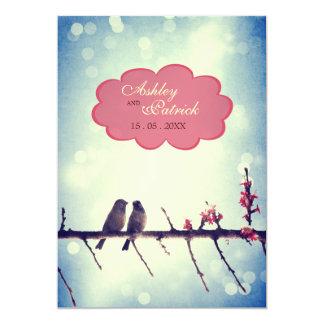 Love birds story 2 5x7 paper invitation card