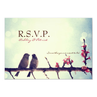 "Love birds story 3.5"" x 5"" invitation card"