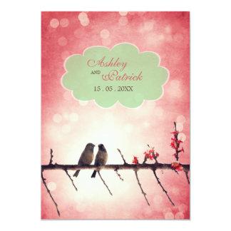 "Love birds story 5"" x 7"" invitation card"