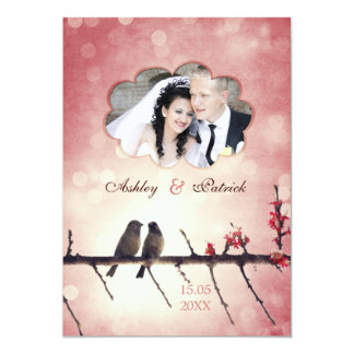 Love birds story - Add your photo 5x7 Paper Invitation Card