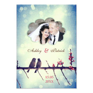 Love birds story - Add your photo Personalized Invites