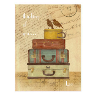 Love Birds Thinking of You Postcard