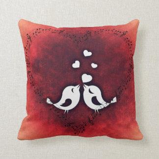 Love Birds Valentine's Day Pillow