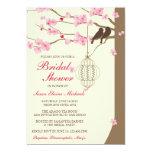 "Love Birds Vintage Cage Blossom Bridal Shower 5"" X 7"" Invitation Card"