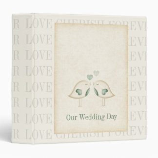 Love Birds Wedding 3 Ring Binders