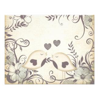 Love Birds Wedding blank Custom Invitation
