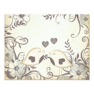 Love Birds Wedding (blank) Custom Invitation