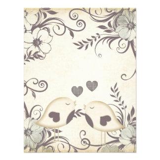 Love Birds Wedding blank Personalized Invitations