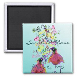 Love Birds Wedding Magnet