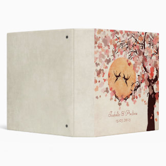 Love Birds Wedding Photo Album 3 Ring Binders