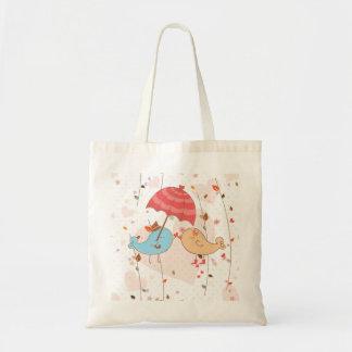Love Birds Wedding Valentines Budget Tote Bag