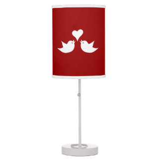 Love Birds with Heart Wedding Enagement Desk Lamps