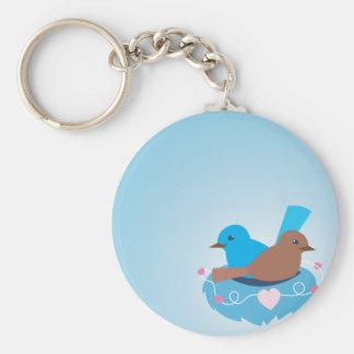 Love Birds wren brown Keychain