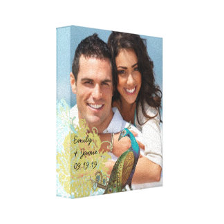 Love Birds Your Photo Wrapped Canvas