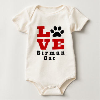Love Birman Cat Designes Baby Bodysuit