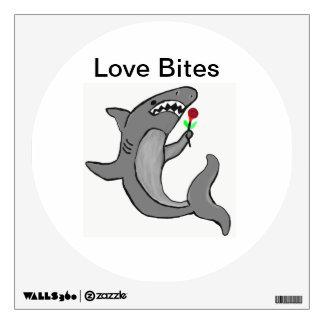 Love bites shark wall decal