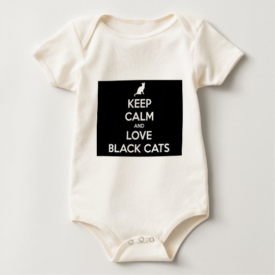 Love Black Cats Baby Bodysuit