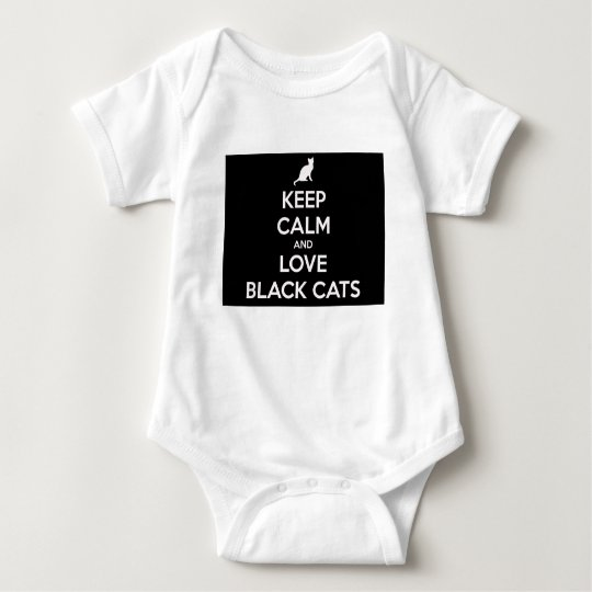 Love Black Cats Baby Bodysuit