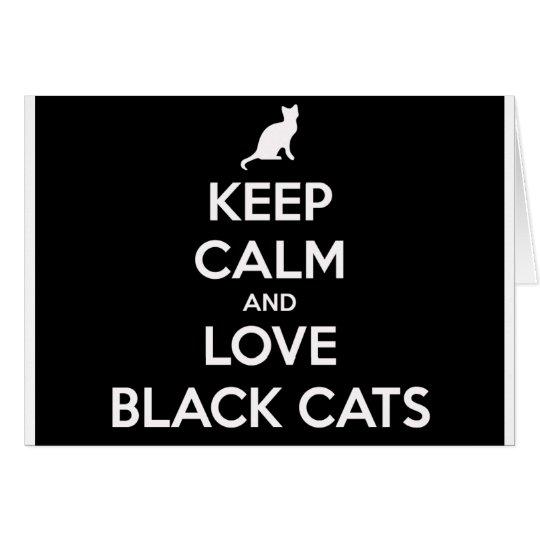 Love Black Cats Card
