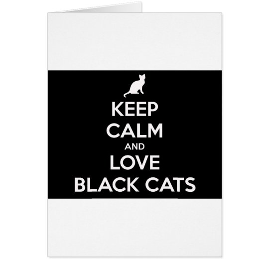 Love Black Cats Card
