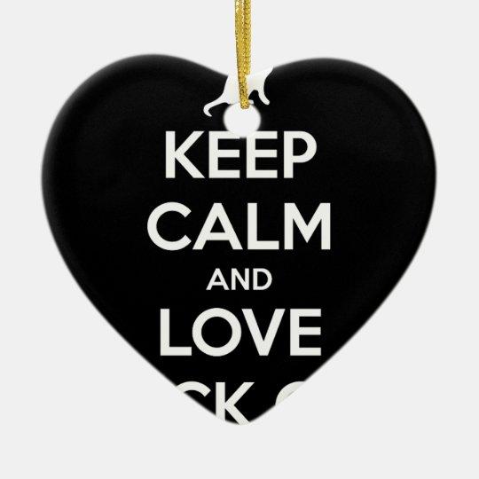 Love Black Cats Ceramic Heart Ornament