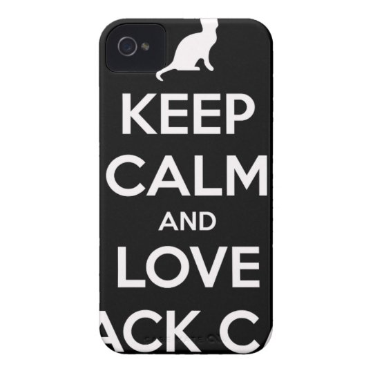 Love Black Cats iPhone 4 Case-Mate Cases