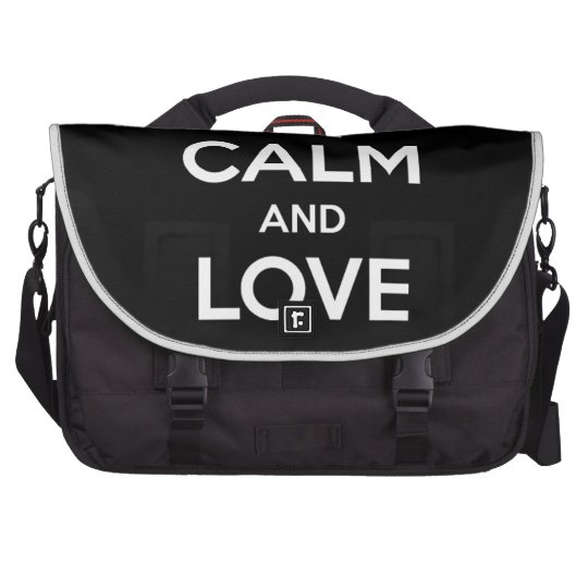 Love Black Cats Laptop Messenger Bag