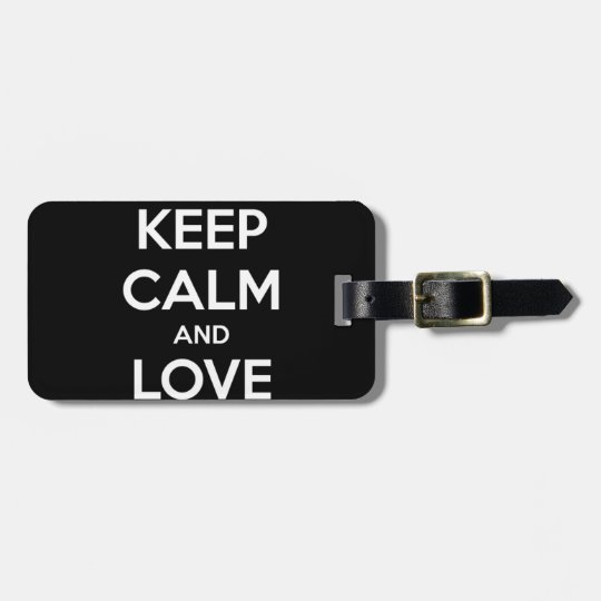 Love Black Cats Luggage Tag