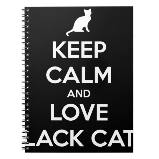 Love Black Cats Notebook