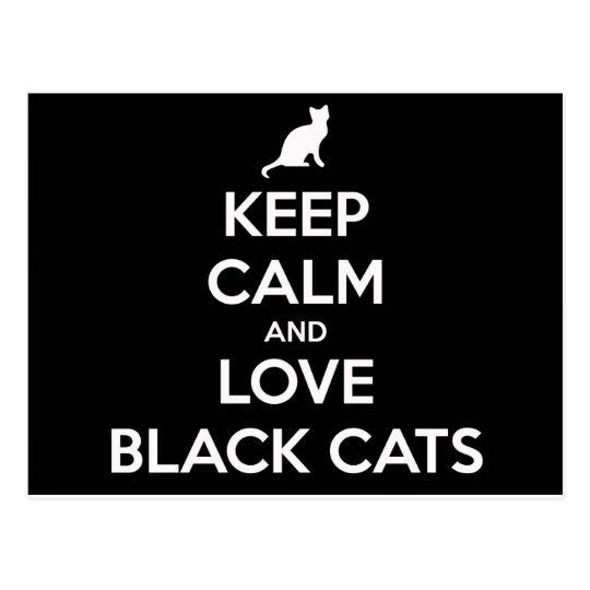Love Black Cats Postcard