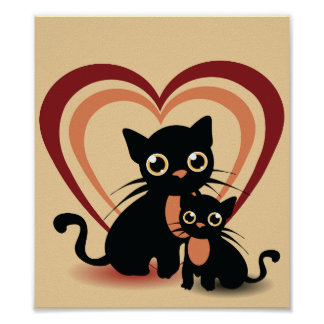 Love Black Cats Poster