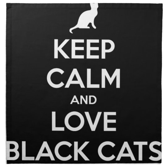 Love Black Cats Printed Napkins