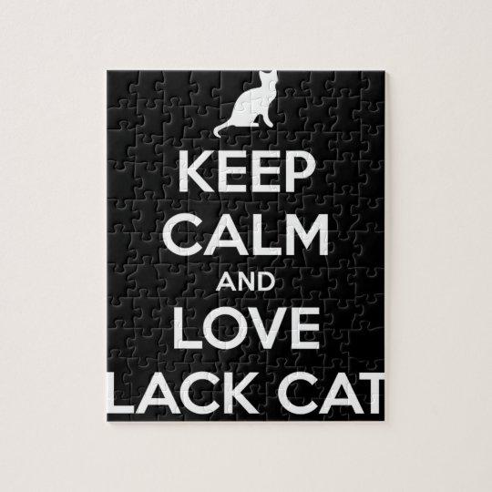 Love Black Cats Puzzles