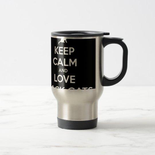 Love Black Cats Travel Mug