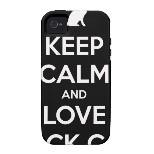 Love Black Cats Vibe iPhone 4 Cases