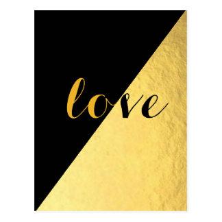 Love Black & Gold Postcard