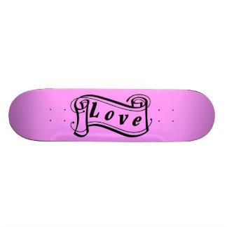 Love black pink scroll Fantasy kind - Skate Board Deck