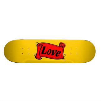 Love black red writing volume custom skate board
