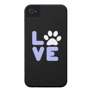 LOVE - Blk/Blu iPhone 4 Case-Mate Case