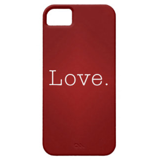 Love.  Blood Red Gradient And White Love Quote iPhone 5 Case