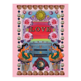 Love Blooms postcard