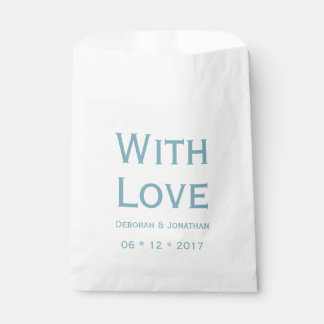 Love Blue And White Personalized Wedding Favour Bag