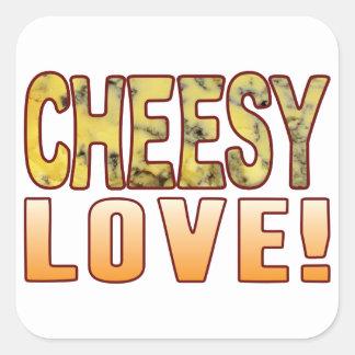Love Blue Cheese Square Sticker