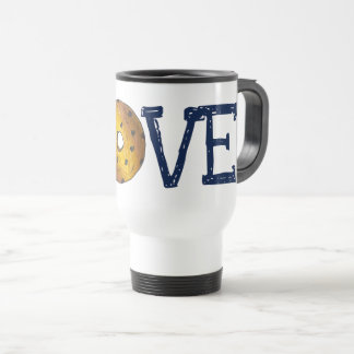 LOVE Blueberry Cake Doughnut Donut Junk Food Travel Mug