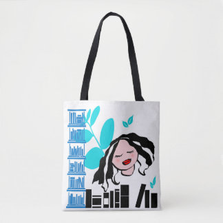 Love Books Little Lady Tote Bag