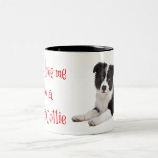 Love Border Collie Puppy Dog Coffee Mug