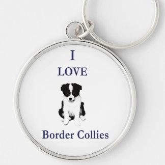 Love Border Collies Keychain